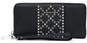 MICHAEL Michael Kors Embellished Textured-Leather Wallet