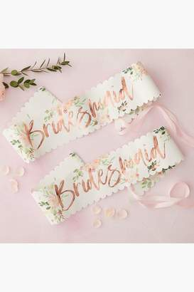 boohoo Floral Bridesmaid Sash 2 Pack