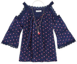 Knitworks Knit Works Girls Scoop Neck 3/4 Sleeve Lace Trim Blouse Preschool / Big Kid