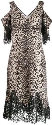 McQ leopard print slip dress