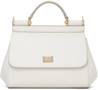 Dolce & Gabbana White Mini Miss Sicily Bag $1,295 thestylecure.com