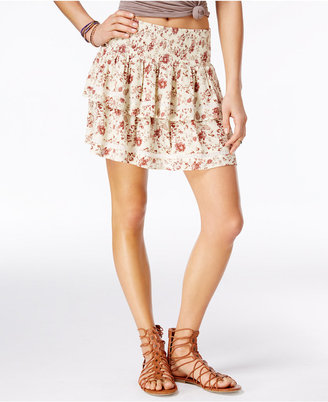 American Rag Printed Tiered Crochet-Trim Skirt, Only at Macy's $49.50 thestylecure.com