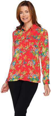 Linea By Louis Dell'olio by Louis Dell'Olio Floral Print Georgette Blouse w/ Tank