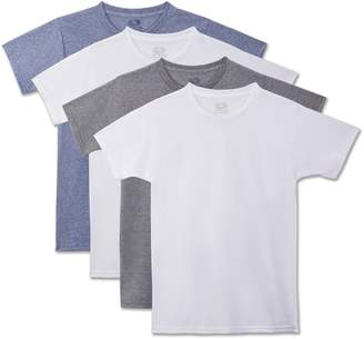 Fruit of the Loom Young Men'S Boys' Beyond Soft Crew T-Shirt, 4-Pack Underwear