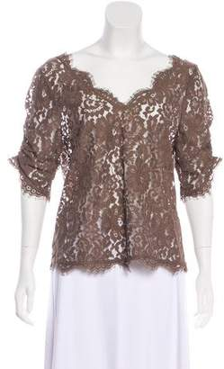 Joie Short Sleeve Lace Top
