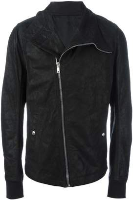 Rick Owens hooded biker jacket