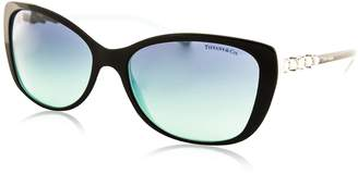 Tiffany & Co. Women's 4103HB 4103-HB 8055/9S Black/Blue Fashion Sunglasses 56mm