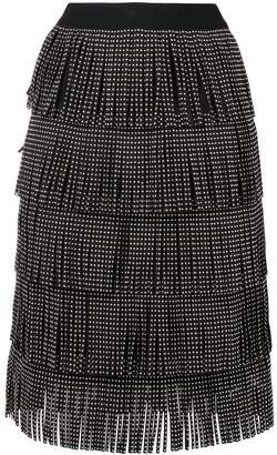 Amuse embellished frill skirt