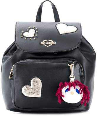Love Moschino appliqué heart backpack