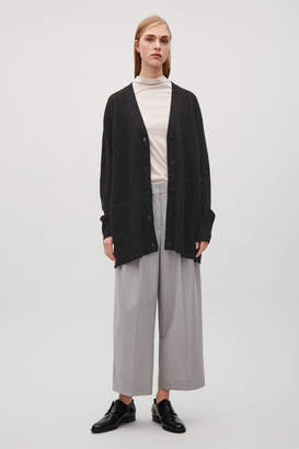 Cos SPECKLED OVERSIZED WOOL CARDIGAN