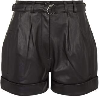 Robert Rodriguez Leather High Waisted Shorts