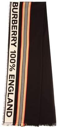 Burberry Icon Stripe cotton scarf