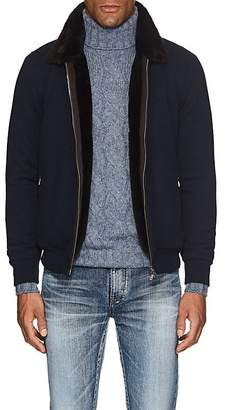 Fioroni Men's Fur-Lined Cashmere Bomber Jacket