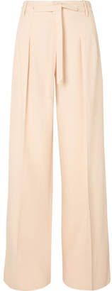 Roland Mouret Woodcourt Alpaca And Wool-blend Wide-leg Pants - Cream