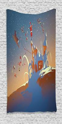 +Hotel by K-bros&Co SCOCICI Cotton Microfiber Bathroom Towels Ultra Soft Hotel SPA Beach Pool Bath Towel Fantasy Art House Santa Claus is Coming to Town with a Bunch of Gifts in Winter Art Print Multi