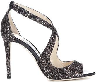 Jimmy Choo Emily 100 Glitter Sandals