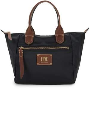 Frye Small Ivy Leather-Trim Satchel