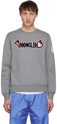 Moncler 2 1952 Grey Logo Sweatshirt