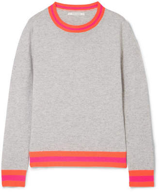 Chinti and Parker Striped Cashmere Sweater - Gray