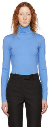 Calvin Klein Blue Logo Turtleneck