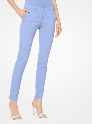 Michael Kors Samantha Stretch Wool-Gabardine Pants