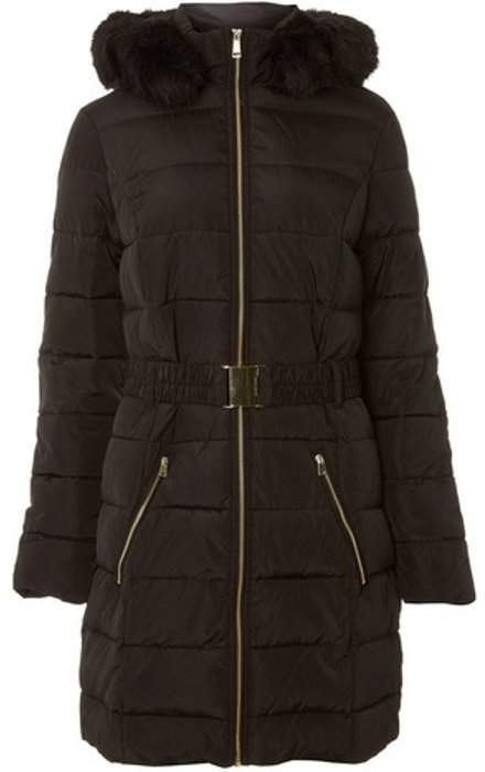 Womens **Tall Black Luxe Padded Coat