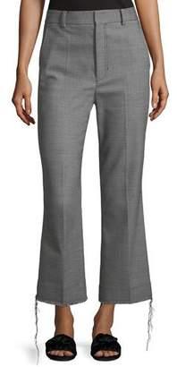 Helmut Lang Birdseye Wool Suiting Pants