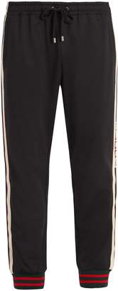 Gucci Web-trimmed jersey track pants