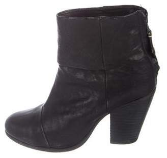 Rag & Bone Leather Harrow Ankle Boots