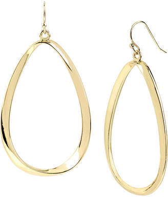 JCPenney Bold Elements Worthington Gold-Tone Twist Oval Drop Earrings