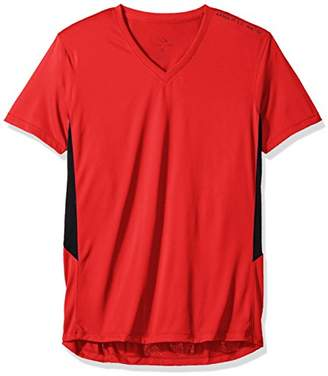 Armani Exchange A|X Men's V Neck Short Sleeve Color Block Side Detail