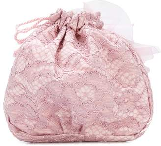 MonnaLisa floral applique shoulder bag