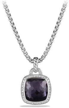 David Yurman Albion® Pendant With Black Orchid And Diamonds, 14Mm