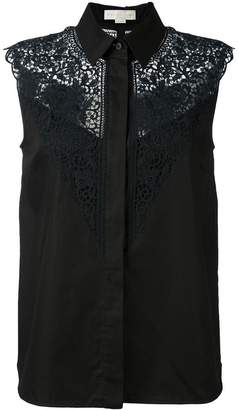 Stella McCartney lace detail sleeveless shirt