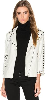 Line & Dot Stud Moto Jacket $161 thestylecure.com