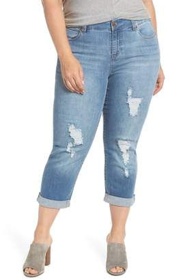 Liverpool Ripped Crop Boyfriend Jeans