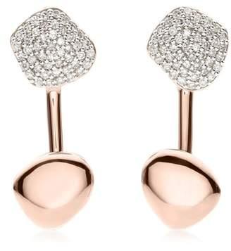 Monica Vinader Nura Nugget Diamond Jacket Earrings