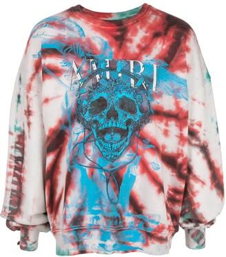 Amiri tie dye skill sweatshirt