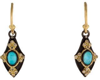 ArmentaArmenta Turquoise, Quartz & Diamond Drop Earrings