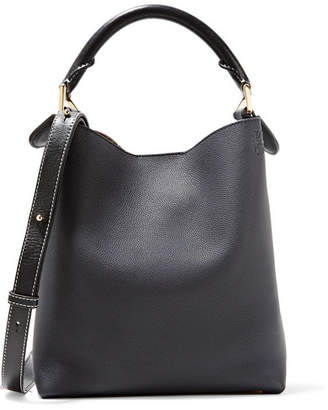 Loewe Hobo Small Textured-leather Shoulder Bag - Midnight blue