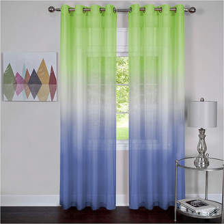 Asstd National Brand Rainbow Grommet-Top Sheer Curtain Panel
