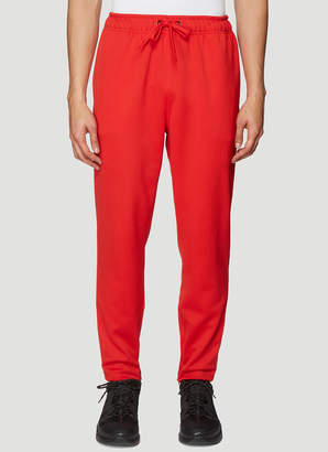 Burberry Stripe Trim Track Pants in Red