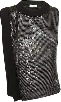 Paco Rabanne Two-toned Metallic Sleeveless Top