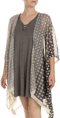 Steve Madden Ombre Gingham Kimono - Women's