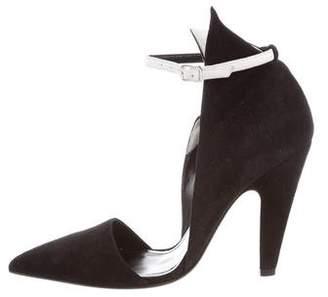 Calvin Klein Suede Ankle Strap Pumps