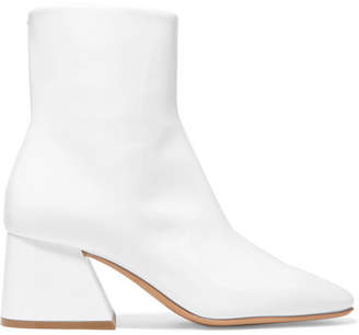 Maison Margiela Patent-leather Ankle Boots - White