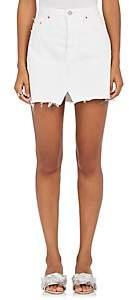 GRLFRND Women's Milla Denim Miniskirt - White