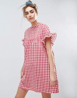 ASOS Red Gingham Smock Dress $45 thestylecure.com