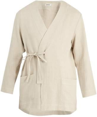 COMMAS Tie-side linen robe