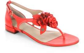 Tory Burch Blossom Leather Thong Sandals